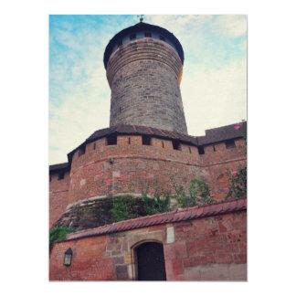 Nurnberg castle 17 cm x 22 cm invitation card