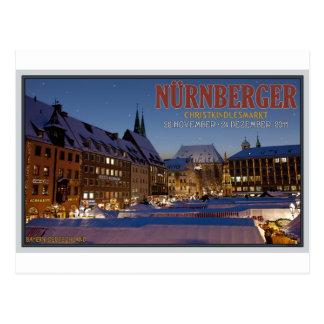 Nürnberg Christkindlesmarkt at Night Postcard