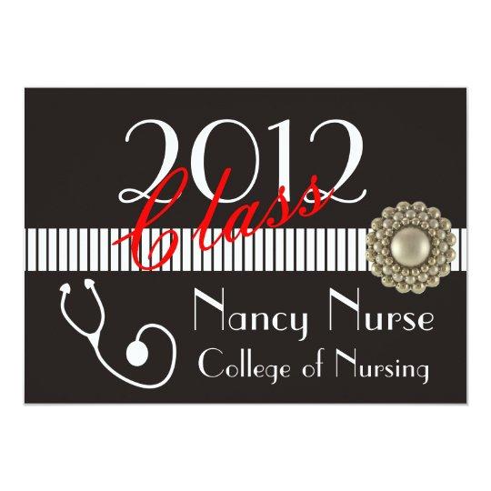 Nurse 2012 Graduation Invitations