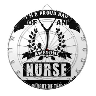 nurse and dad dartboard