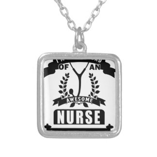 nurse and dad silver plated necklace