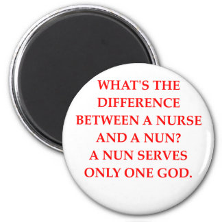 nurse and nun magnet