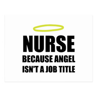 Nurse Angel Job Title Postcard