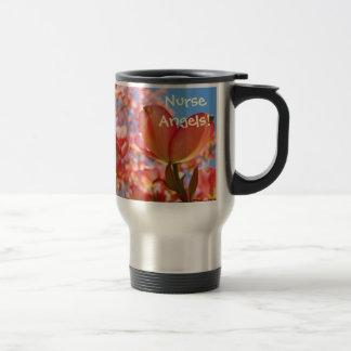 Nurse Angels! Coffee Mug gifts Pink Dogwood Flower