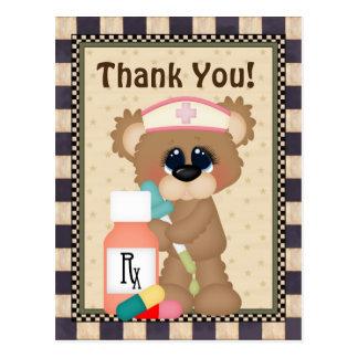 Nurse Bear Thank you postcard
