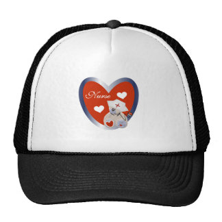 Nurse Bear With Heart T-shirts and Gifts Cap