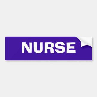 """NURSE"" Bumper Sticker"