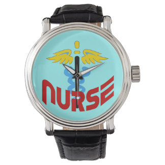 Nurse Caduceus (Custom Color Change Background Watch