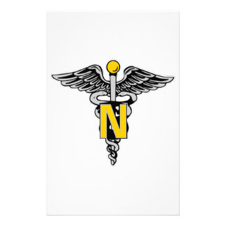 Nurse Caduceus Customized Stationery