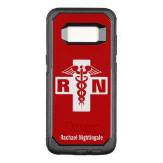 Nurse Caduceus Initials Name Template OtterBox Commuter Samsung Galaxy S8 Case
