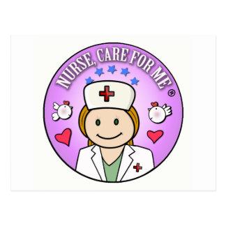 Nurse Care For Me Ginger Postcard