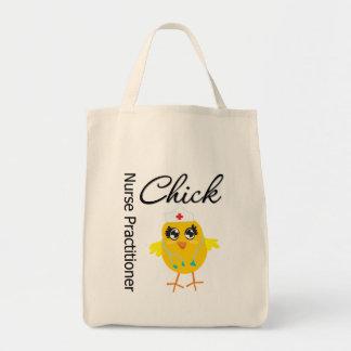 Nurse Career Chick Nurse Practitioner Grocery Tote Bag