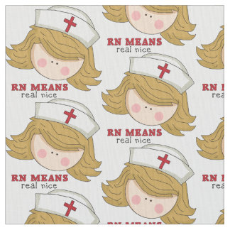 Nurse cartoon Pima cotton fabric
