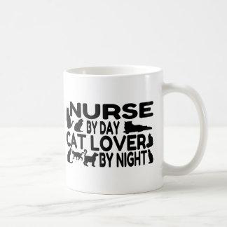 Nurse Cat Lover Basic White Mug