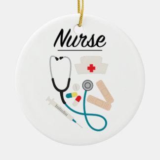 Nurse Ceramic Ornament