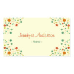Nurse - Chic Nature Stylish Pack Of Standard Business Cards