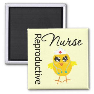 Nurse Chick v1 Reproductive Nurse Refrigerator Magnet