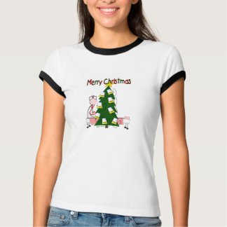 "Nurse Christmas Design ""Merry Christmas"" T-Shirt"