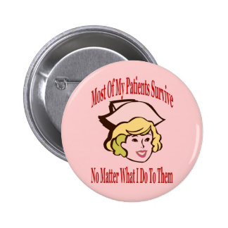 Nurse Comical Comment 6 Cm Round Badge