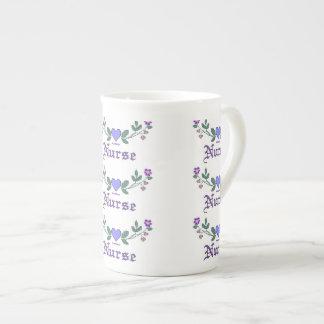 Nurse Cross Stitch Print Tea Cup