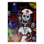 Nurse Day of the Dead Greeting Card
