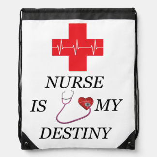 Nurse Destiny Drawstring Bag