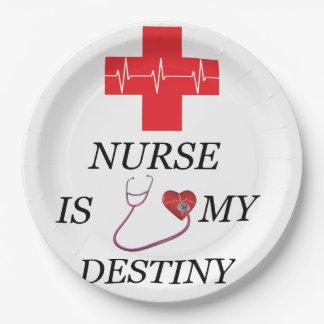 Nurse Destiny Paper Plate