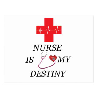 Nurse Destiny Postcard