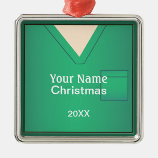 Nurse Doctor Scrubs Christmas Premium Ornament 3