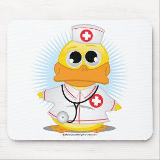 Nurse Duck Mouse Pads