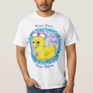 Nurse Ducky custom name value t-shirt