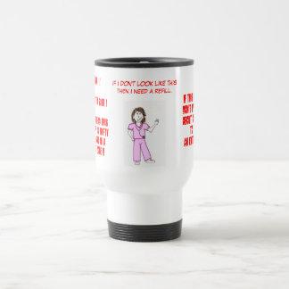 Nurse Flack - Rx. Caffeine prn Travel Mug