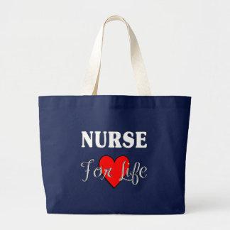 Nurse For Life Large Tote Bag