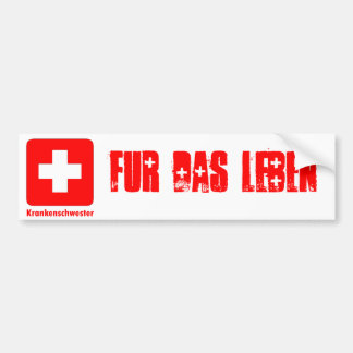 Nurse-German Bumper Sticker
