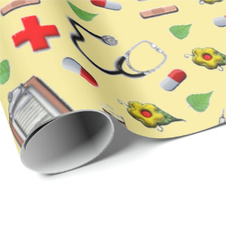 nurse gift wrap paper