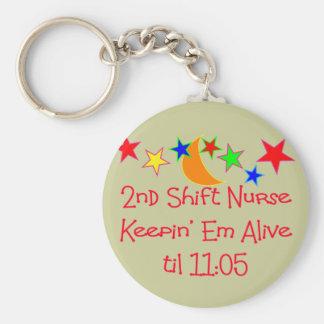 "Nurse Gifts ""2nd Shift Nurse""  Hilarious Key Ring"