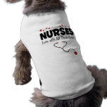 Nurse Heart Gift Sleeveless Dog Shirt