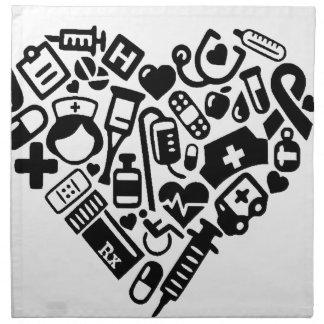 Nurse HEART Napkin