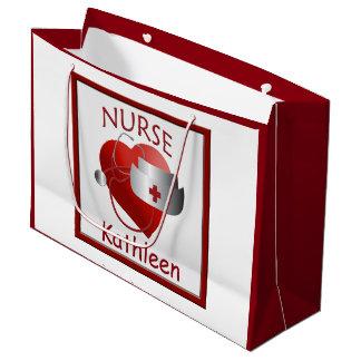 Nurse Heart Nurses Custom Medical Large Gift Bag