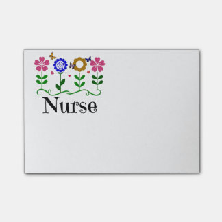 Nurse--Hearts, Flowers and Butterflies Post-it Notes