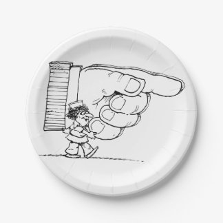 Nurse Holding A Giant Hand Paper Plates