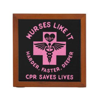 Nurse Humor - CPR  Save Lives - Funny Novelty Desk Organiser