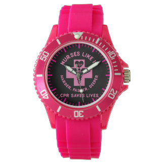 Nurse Humor - CPR  Save Lives - Funny Novelty Watch