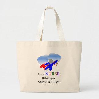 Nurse humor, Nurse superhero Large Tote Bag