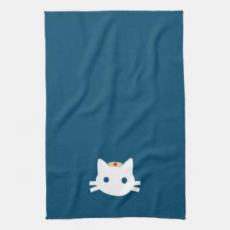 Nurse Kitty Tea Towel