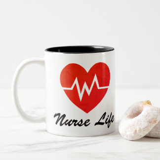 Nurse Life Red EKG Heart Cup