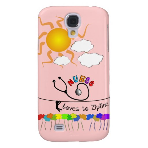 Nurse Loves to Zipline Gifts Galaxy S4 Cover