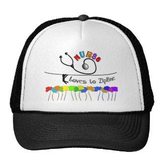 Nurse Loves to Zipline Gifts Hat