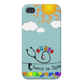 Nurse Loves to Zipline Gifts Case For iPhone 4
