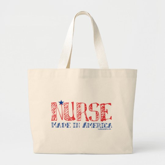 Nurse - Made in America Large Tote Bag